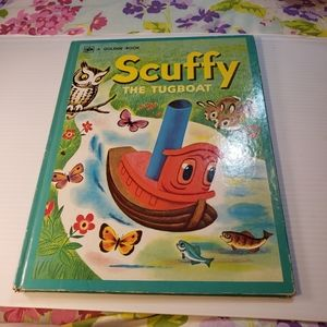 Vintage Scuffy the Tugboat A Big Golden Book